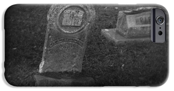 Headstones iPhone Cases - Visitation iPhone Case by Paul Anderson