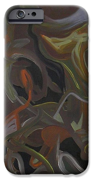 Abstractions iPhone Cases - Visual Jazz #14 iPhone Case by Philip Rader