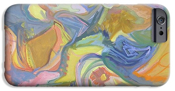 Abstract Expressionist iPhone Cases - Visual Jazz #17 iPhone Case by Philip Rader