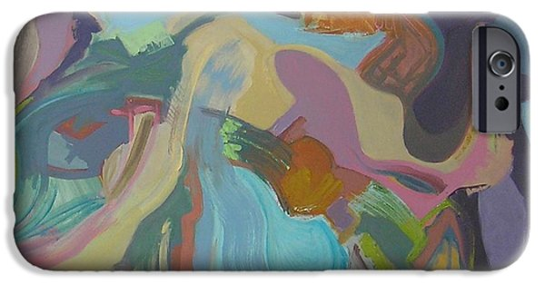 Abstract Expressionist iPhone Cases - Visual Jazz #18 iPhone Case by Philip Rader