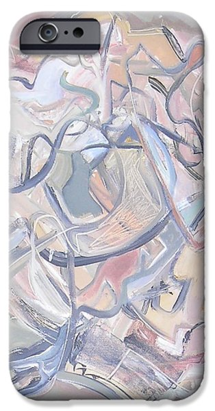Abstractions iPhone Cases - Visual Jazz #2 iPhone Case by Philip Rader