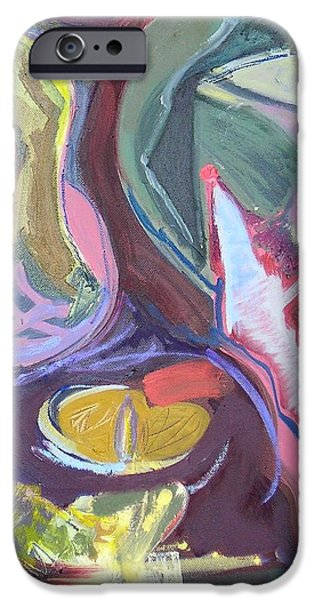Abstract Expressionist iPhone Cases - Visual Jazz #21 iPhone Case by Philip Rader