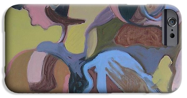 Abstract Expressionist iPhone Cases - Visual Jazz #23 iPhone Case by Philip Rader