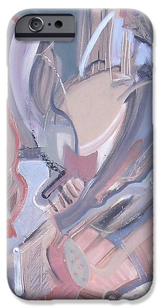 Abstractions iPhone Cases - Visual Jazz #4 iPhone Case by Philip Rader