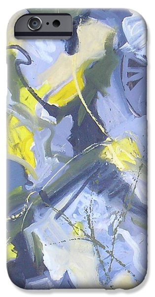 Abstractions iPhone Cases - Visual Jazz #7 iPhone Case by Philip Rader