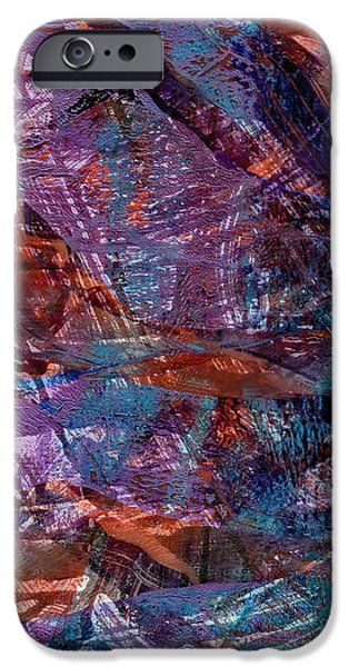Abstract Digital Mixed Media iPhone Cases - Visual Uprising iPhone Case by Laura L Leatherwood