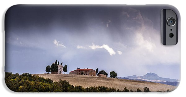 Storm Photographs iPhone Cases - Vitaleta chapel iPhone Case by Yuri Santin