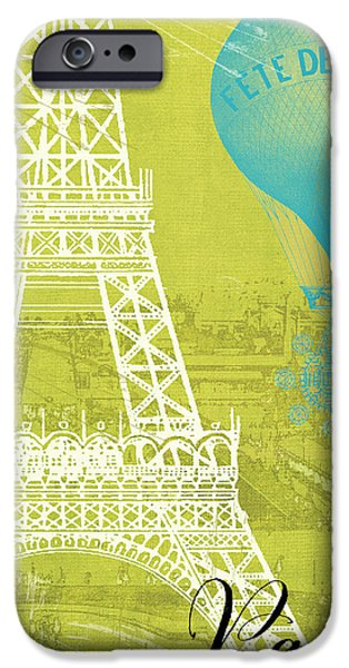 Hot Air Balloon iPhone Cases - Viva La Paris iPhone Case by Mindy Sommers