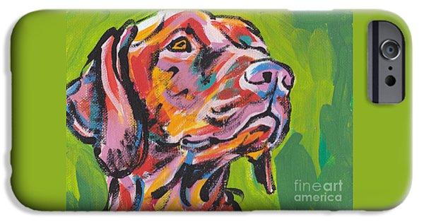 Puppies iPhone Cases - Viva La Vizsla iPhone Case by Lea