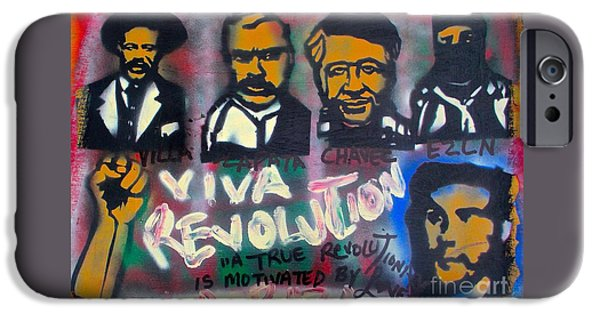 First Amendment Paintings iPhone Cases - Viva Revolution iPhone Case by Tony B Conscious