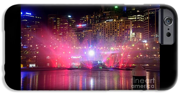 Aquatic Display iPhone Cases - Vivid Sydney by Kaye Menner - Vivid Aquatique Pink and Blue iPhone Case by Kaye Menner