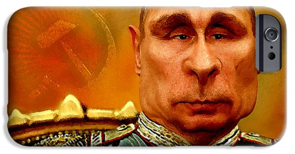 President iPhone Cases - Vladimir Putin iPhone Case by Hans Neuhart