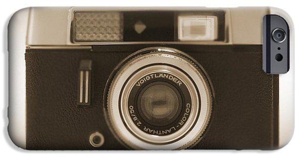 35mm iPhone Cases - Voigtlander Rangefinder Camera iPhone Case by Mike McGlothlen