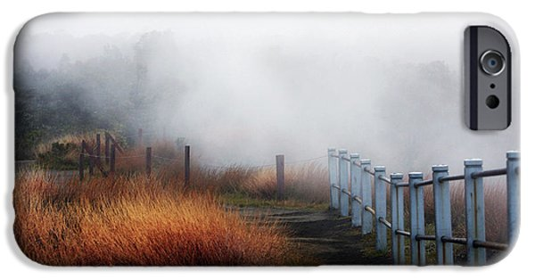 Big Island iPhone Cases - Volcano Fence iPhone Case by Ty Helbach