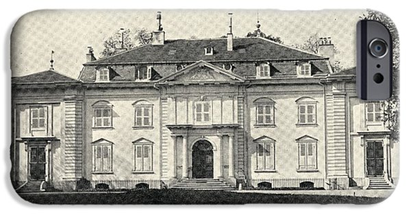 Switzerland Drawings iPhone Cases - Voltaire S Home At Ferney, Switzerland iPhone Case by Ken Welsh
