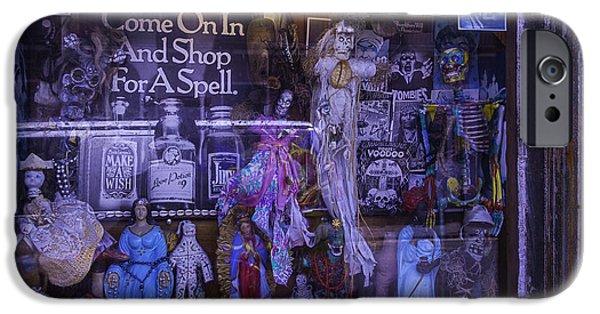 Voodoo Shop iPhone Cases - Voo Doo Window iPhone Case by Garry Gay