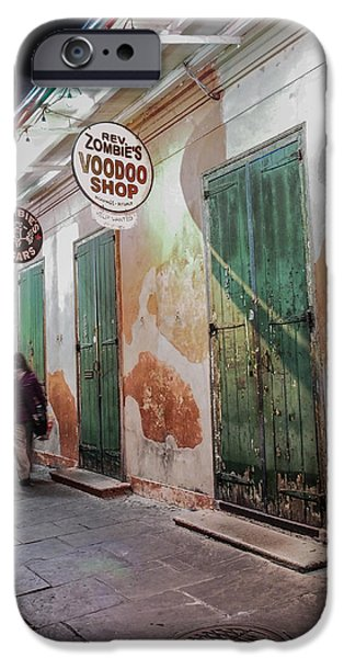 Voodoo Shop iPhone Cases - New Orleans Voodoo Shop iPhone Case by Bourne Images