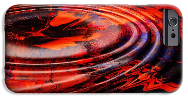 Abstract Digital Mixed Media iPhone Cases - Vortex iPhone Case by Patricia Motley