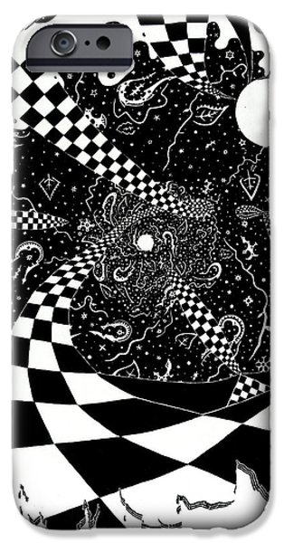 Recently Sold -  - Abstract Expressionism iPhone Cases - Vortex iPhone Case by Red Gevhere