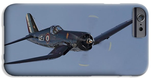 Classic Aircraft iPhone Cases - Vought Corsair iPhone Case by Pat Speirs
