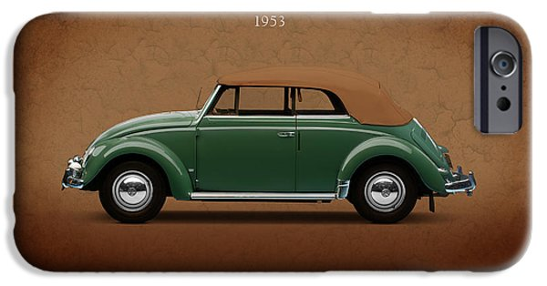 Vw iPhone Cases - VW Beetle 1953 iPhone Case by Mark Rogan