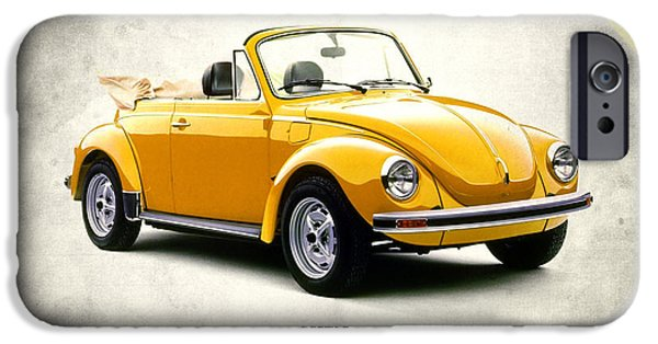 Volkswagen iPhone Cases - VW Beetle 1972 iPhone Case by Mark Rogan