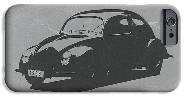 Cars iPhone Cases - VW Beetle iPhone Case by Naxart Studio