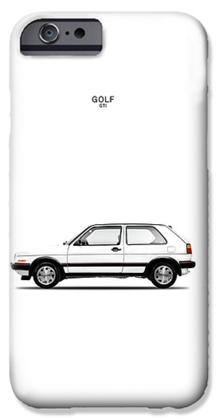 Vw iPhone Cases - VW Golf GTI iPhone Case by Mark Rogan