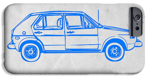 Modernism iPhone Cases - VW Golf iPhone Case by Naxart Studio