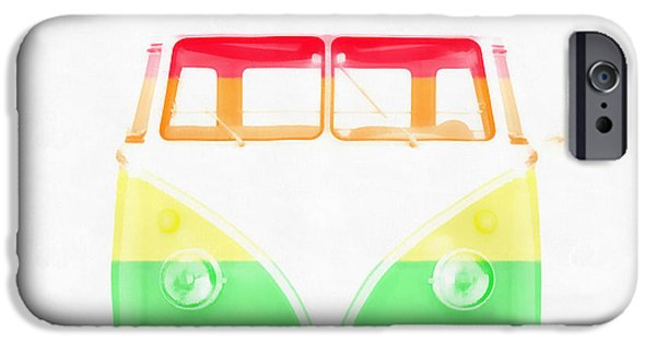 Diversity iPhone Cases - VW Van Rainbow iPhone Case by Edward Fielding