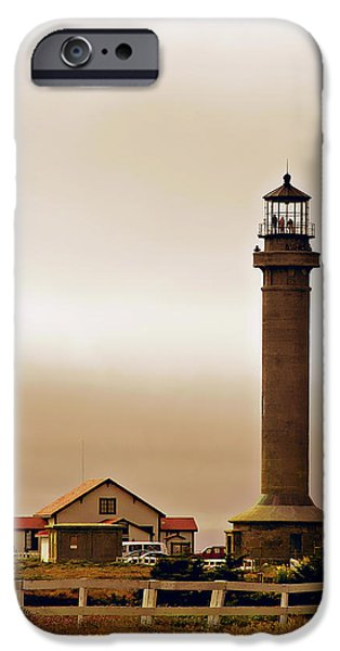 Wacky Weather at Point Arena Lighthouse - California iPhone Case by Christine Till