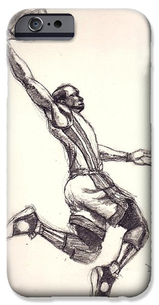 Dwyane Wade iPhone Cases - Wade the Gladiator iPhone Case by Dallas Roquemore