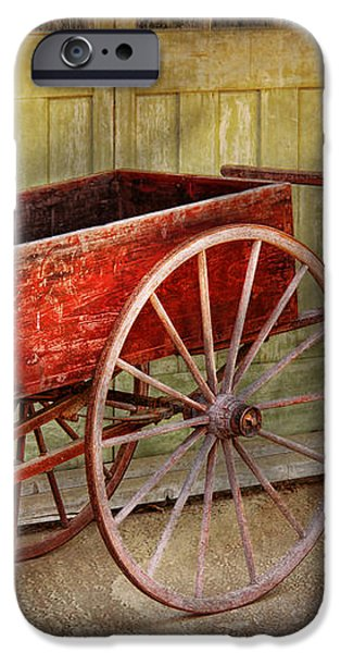 Wagon - That old red wagon  iPhone Case by Mike Savad