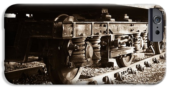 Swindon iPhone Cases - Wagon wheels iPhone Case by Steven Sexton