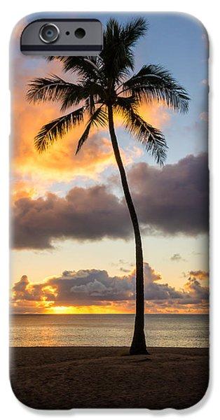 Tidal Photographs iPhone Cases - Waimea Beach Sunset 2 - Oahu Hawaii iPhone Case by Brian Harig