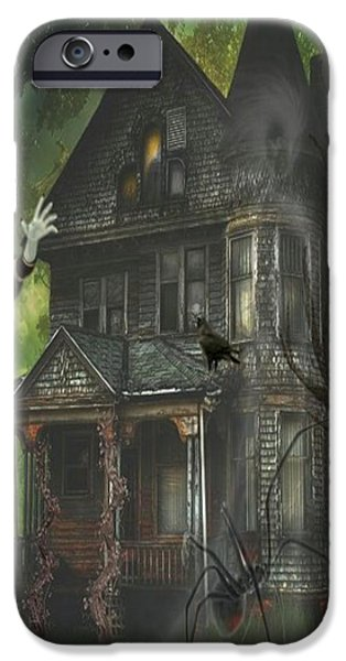 Haunted House iPhone Cases - Wait iPhone Case by G Berry