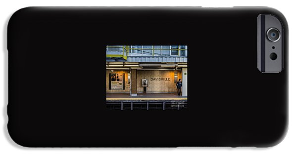 Dave iPhone Cases - Waiting for a Train iPhone Case by Dave Hood