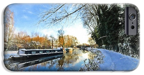 Reflections In River iPhone Cases - Waiting For Spring - Impressions iPhone Case by Gill Billington