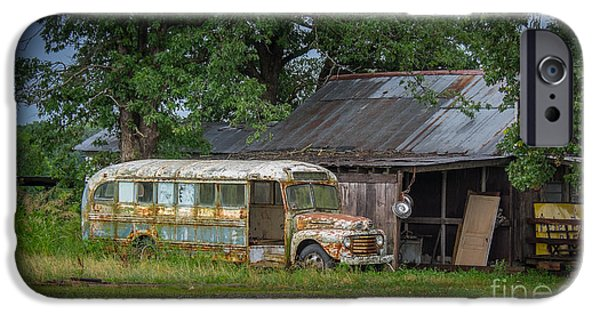 Old Barns iPhone Cases - Waiting for the Bus in Tennessee iPhone Case by T Lowry Wilson