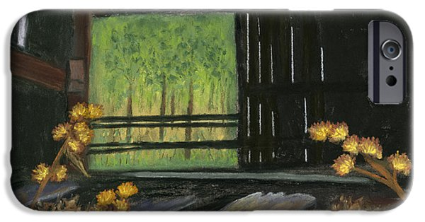 Shed Pastels iPhone Cases - Waiting for the Light iPhone Case by Ginny Neece