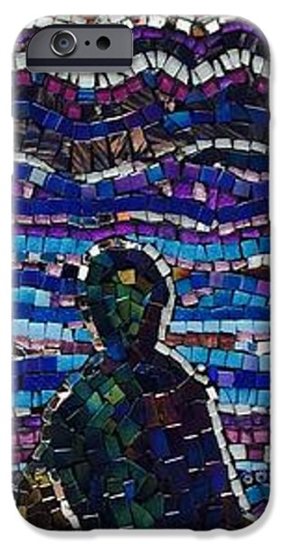 Sunset Glass Art iPhone Cases - Waiting  iPhone Case by Helen McLean