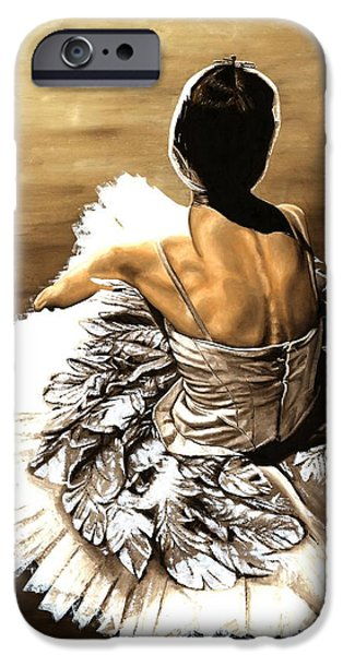 Ballet Paintings iPhone Cases - Waiting in the Wings iPhone Case by Richard Young