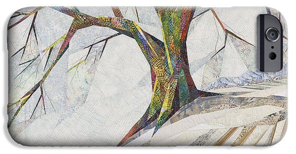 Clouds Tapestries - Textiles iPhone Cases - Waiting Out Winter iPhone Case by Linda Beach