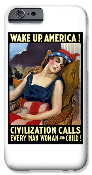 Best Sellers -  - First Lady iPhone Cases - Wake Up America - Civilization Calls iPhone Case by War Is Hell Store