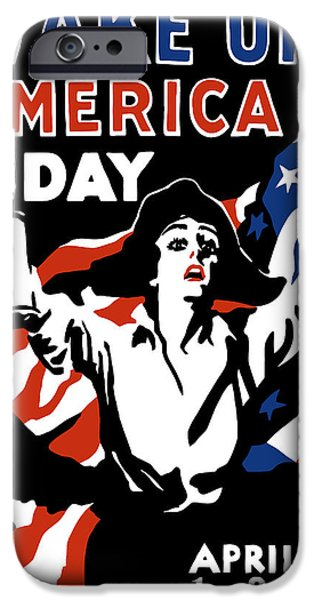 One iPhone Cases - Wake Up America Day iPhone Case by War Is Hell Store