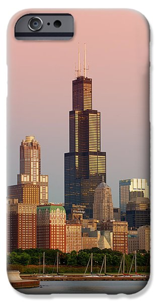 Willis Tower iPhone Cases - Wake Up Chicago iPhone Case by Sebastian Musial