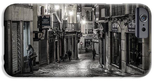 Balcony iPhone Cases - Waking Up in Toledo iPhone Case by Joan Carroll