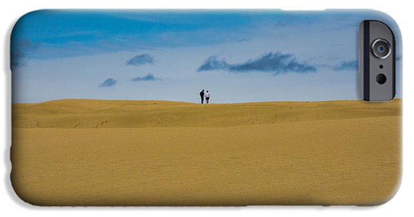 Sand Dunes Pyrography iPhone Cases - Walk In Dunes iPhone Case by Peteris Vaivars