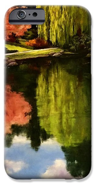 Willow Lake Pastels iPhone Cases - Walk in the Gardens iPhone Case by Candice Ferguson