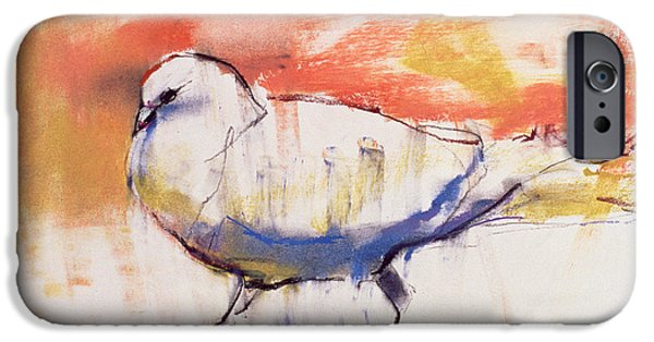 Animal Pastels iPhone Cases - Walking Dove iPhone Case by Mark Adlington